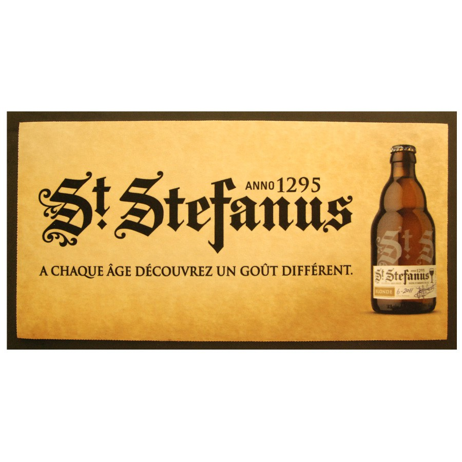Tapis de bar bière St Stefanus